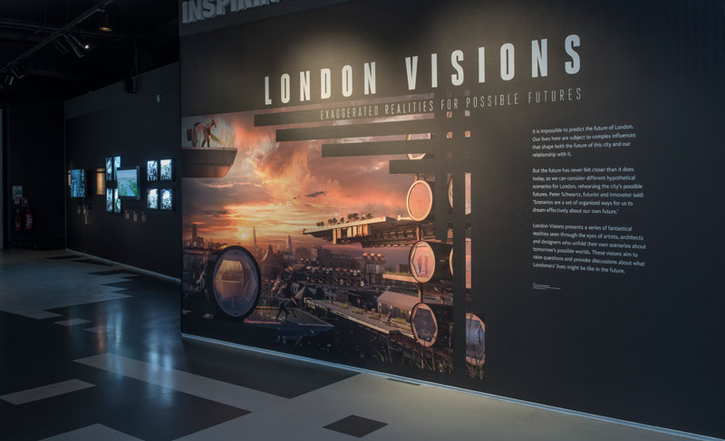 Inside the London Visions display.